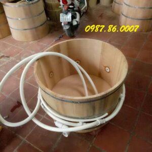 Bồn tắm gỗ sục khí xông hơi